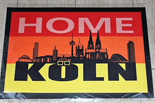 Städte Köln - Fußmatte - Fussmatte - Fußabstreifer - Fußabtreter - Fussabstreifer - Fussabtreter - Schmutzmatte - Sauberlaufmatte - Türfussmatte - Türmatte - Schmutzfangmatte - Matte - Schmutzmatte - Schuhmatte - Schuhabtreter Größe : 40 x 60 cm (Köln)