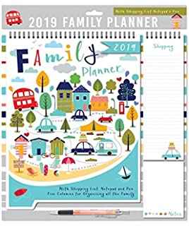 2019 monthly family calendar appointment planner - one month to view