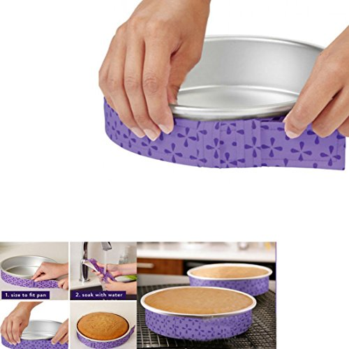 Bake-Even Strips Cake Strips Cake Pan Strips Bake Even Strip Bake Even Cake Strips Bake Even Strip Set for Even Baking
