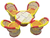 Garden Bamboo Rattan Chair Set Garden and Outdoor Furniture Dinning Table With Chair