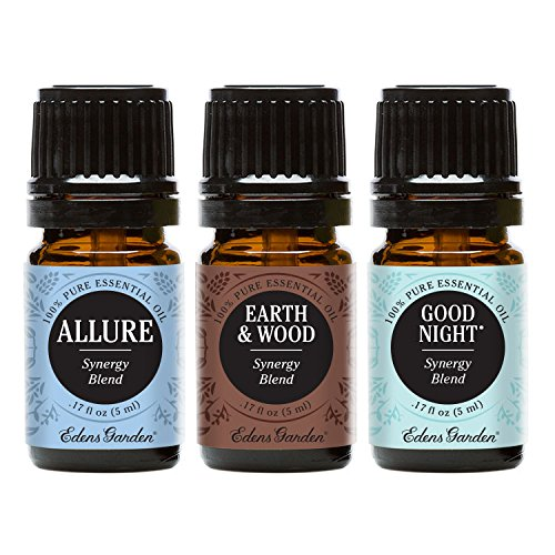 Allure, Earth & Wood, Good Night Essential Oil (100% Pure, Undiluted Therapeutic/Best Grade) Premium Aromatherapy Oils by Edens Garden- 5 ml