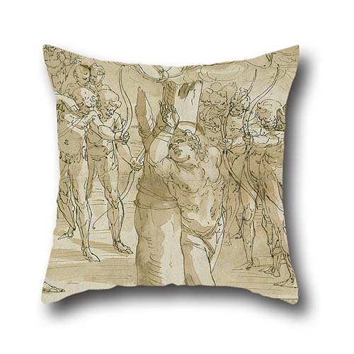 [Throw Pillow Covers 16 X 16 Inches / 40 By 40 Cm(2 Sides) Nice Choice For Divan,her,kids,deck Chair,dinning Room,outdoor Oil Painting Luca Cambiaso - The Martyrdom Of Saint] (Lucas Mother 3 Costume)