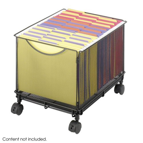 Black Mesh Rolling File Cube