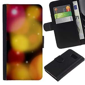 Billetera de Cuero Caso Titular de la tarjeta Carcasa Funda para Samsung Galaxy S6 SM-G920 / Nature Beautiful Forrest Green 17 / STRONG