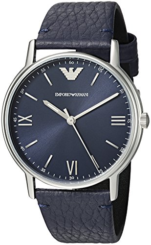 Emporio-Armani-Mens-Kappa-Quartz-Stainless-Steel-and-Leather-Casual-Watch-ColorBlue-Model-AR11012