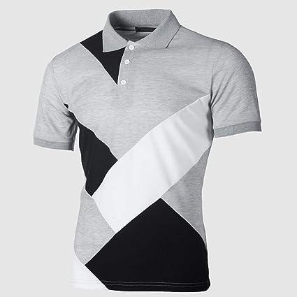 HWTP Polo de Golf: diseño de Patchwork de Moda, poliéster ...