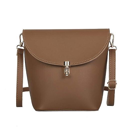 65b330dcd1 Amazon.com: JJLIKER Bucket Bag Women Top Handle Handbags Flap Satchel Purse  Tote Bag Shoulder Bag Leather Designer Brown: Clothing