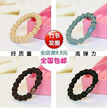 Amazon.com   Japan and South Korea the new hair band wearing bamboo beads  to increase hair rope Korean hair accessories small jewelry 9.9 for women  girl ... a8da42baef1