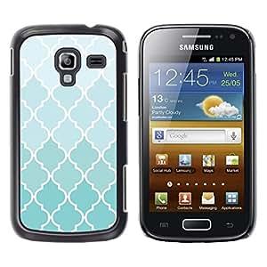 Be Good Phone Accessory // Dura Cáscara cubierta Protectora Caso Carcasa Funda de Protección para Samsung Galaxy Ace 2 I8160 Ace II X S7560M // Wallpaper Light Blue White Pattern Des