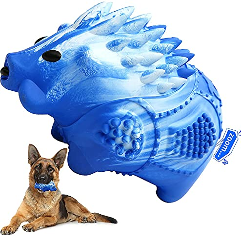 Dog Chew Toys for Aggressive Chewers Large Medium Breed Indestructible Tough Durable Dog Toys Squeaky Dog Chew Toys with…