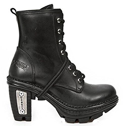 Svart Gotisk Lærstøvler Vintage Tr008 Punk Rock New Neo Damer s1 xOnqvWXY