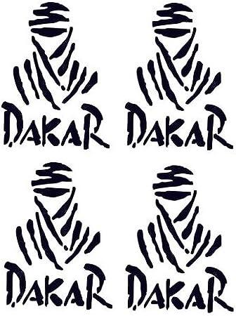 Set di adesivi Parigi-Dakar colore nero 4 pezzi