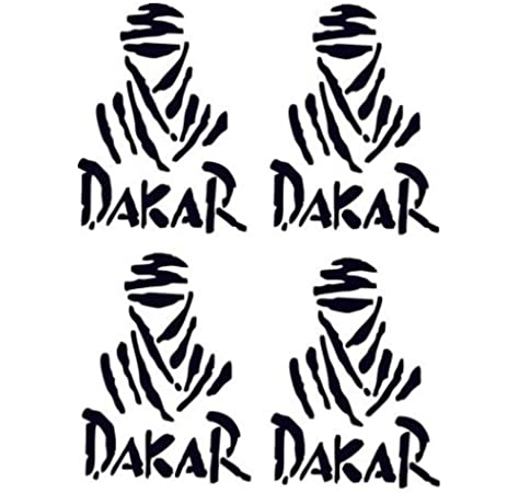 Paris Dakar Sticker Decal x 10 Black Available: Amazon.es: Coche y moto