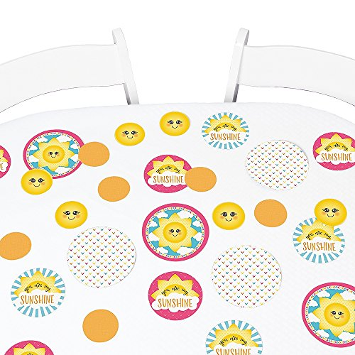 Big Dot of Happiness You are My Sunshine - Baby Shower or Birthday Party Giant Circle Confetti - Party Decorations - Large Confetti 27 Count ()