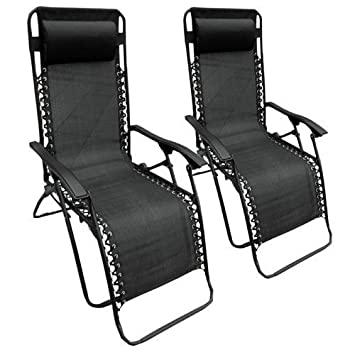 heavy duty folding chairs uk. set of 2 heavy duty textoline zero gravity reclining garden sun lounger chairs folding uk k