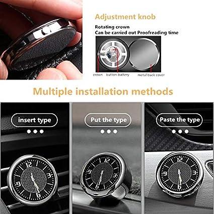 1 Piece Car Quartz Clock For Dashboard Ornaments 4cm Dia