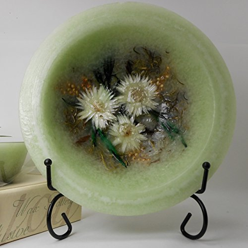 Habersham - Sage Wax Pottery Bowl 7 Inch With Free Stand ()