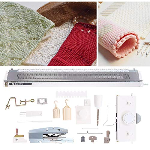 Akozon Knitting Machine, Sweater Knitting Machine Artisan 245 Standard Gauge Plastic Domestic Knitting Machine for Silver Reed SK280 SK360 SK840 Includes Yarn Needles Accessories for Adults/Kids by Akozon (Image #2)
