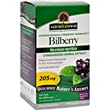 Nature's Answer Bilberry Extract - 90 Vegetarian Capsules - Promotes Eye Health - Contain potent antioxidant properties