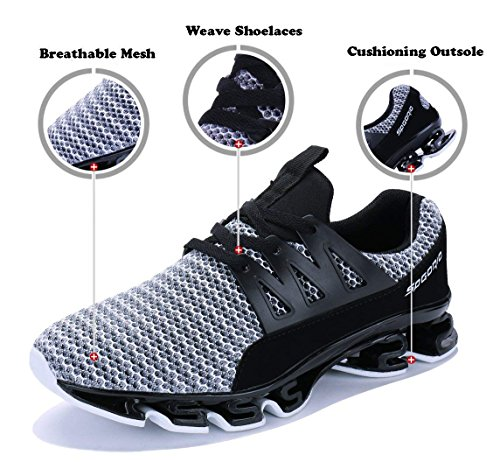Sports Shoe Mesh Walking Sneakers Outdoor Shoes Breathable 5 Grey Mens Running Blade WYSBAOSHU g8xqwzav8