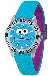 Sesame Street Cookie Monster Kids Acrylic Case Blue Stretch Strap Time Teacher Watch