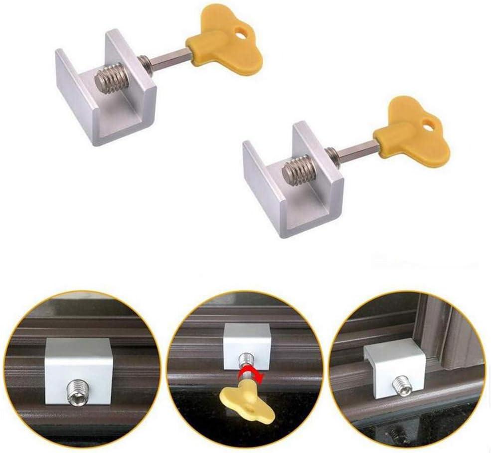 2 cerraduras de seguridad deslizantes ajustables de acero ...