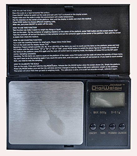 (Jeweler's Scale: New 600 Gram ELECTRONIC BALANCE. Weigh Ounce, Pennyweight & More Convert Troy Scrap Jewelry oz; Ring Setting g; 999 Silver + 5 Gram Gold Test Bar)