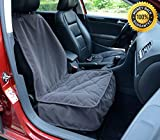 Dog Bed with Washable Cover - Lanyar Microfiber Dog Car Bucket Seat Cover for Pets Seat Protector, Dark Grey
