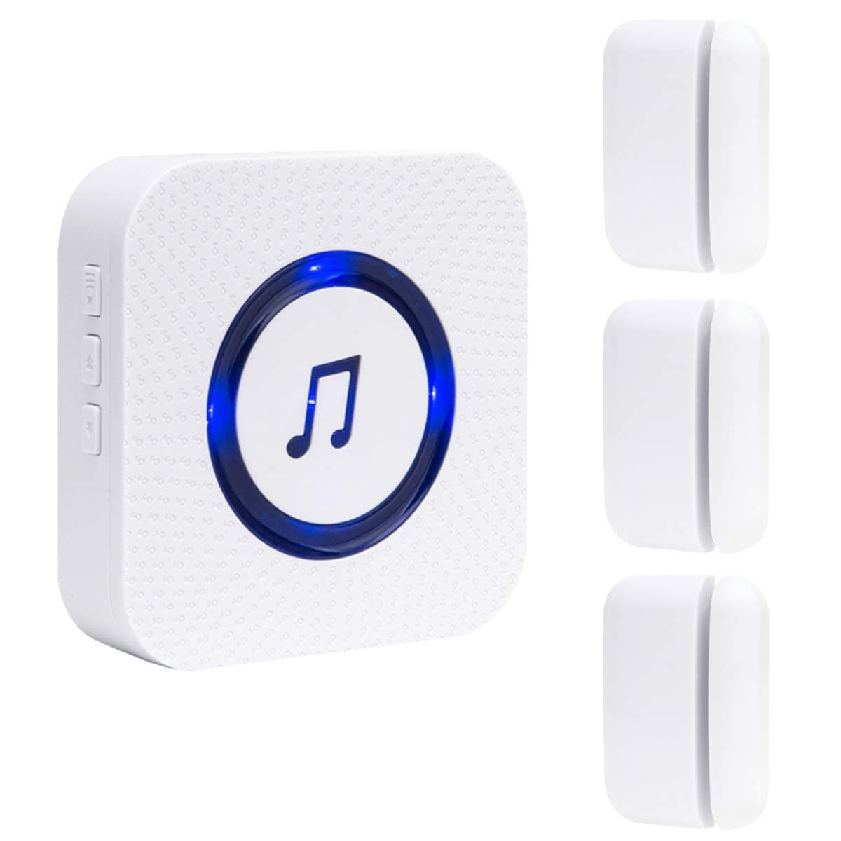 Wireless Door Open Chime Entrance Entry Alert Kit for Business Home Store 1 Receiver 3 Magnetic Door Window Sensor 52 Ringtones 4 Volume Level