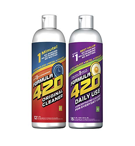- Formula 420 Variety Pack : 1 Bottle Glass Metal Ceramic Pipe Original Cleaner 12 Oz. & 1 Bottle Formula 420 Daily Use Cleaner 16oz Concentrate Makes 32oz (2 Bottles Total)