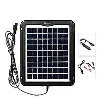ZEALLIFE Solar Battery Charger, 5W 12V S...