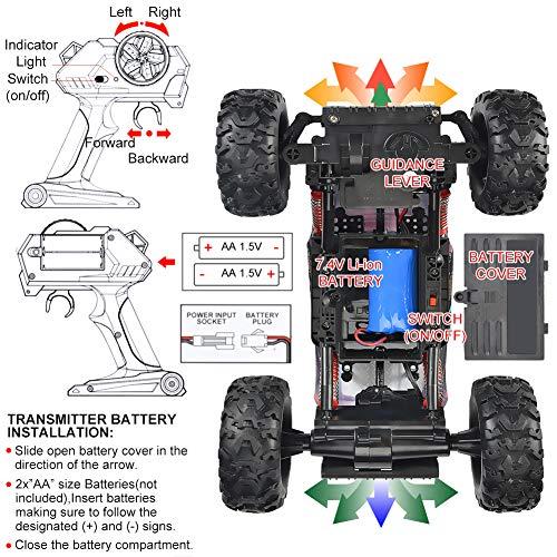 NQD Remote Control Truck, RC Car 1: 12 Scale RC Truck 2.4Ghz Radio Remote Control Car 4WD Off Road for Boys