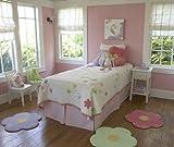 "Flower Area Rug for Kids Girls Room, Girls Area Rugs, Girls Room & Baby Nursery Floor Rugs, Kids Room Decorative 25"" Daisy Flower Pink Rug Mat (Set of 3)"