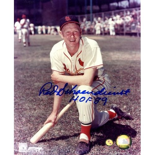 (Red Schoendienst Autographed/ Original Signed Color 8x10 Photo With