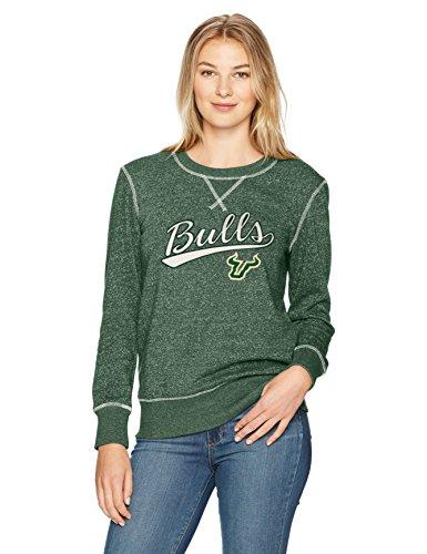 NCAA South Florida Bulls Women's Ots Seneca Crew Neck Pullover, Medium, Dark Green