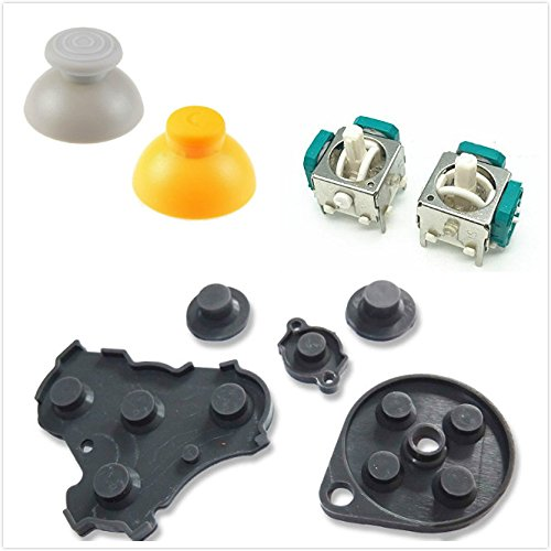 - Replacement 3D Analog Thumbstick Joystick Stick Cap Conductive Silicone Button Pad for NGC GameCube Controller