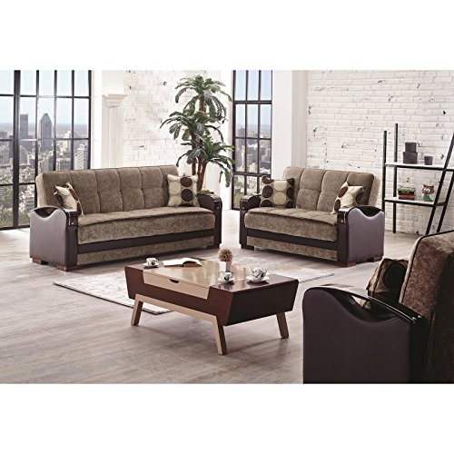 Empire Furniture Usa Hartford Collection Convertible Sofa Bed With Storage Space Includes 2