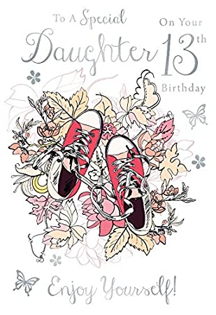 For a special daughter on your 13th birthday trainers design happy for a special daughter on your 13th birthday trainers design happy birthday card bookmarktalkfo Gallery