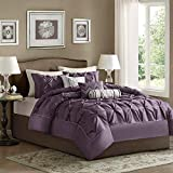 Plum and Grey Comforter Sets Madison Park Laurel Comforter Set Queen Plum