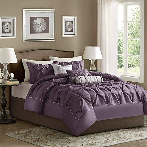 Madison Park Laurel Comforter Set Color: Plum, Size: King