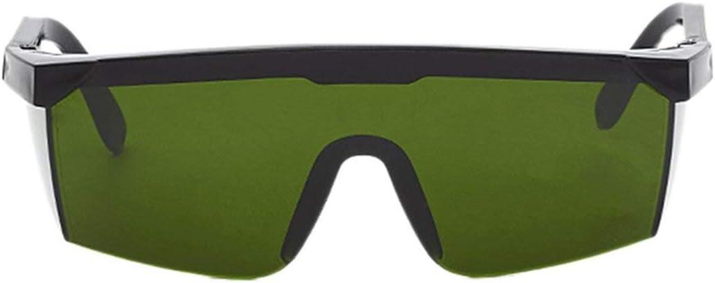 Lentes de protección de protección láser Protección de Gafas PC Lentes de protección Ocular Lentes de protección Ocular Unisex Gafas a Prueba de luz de Marco Negro (Color: Verde Oscuro)