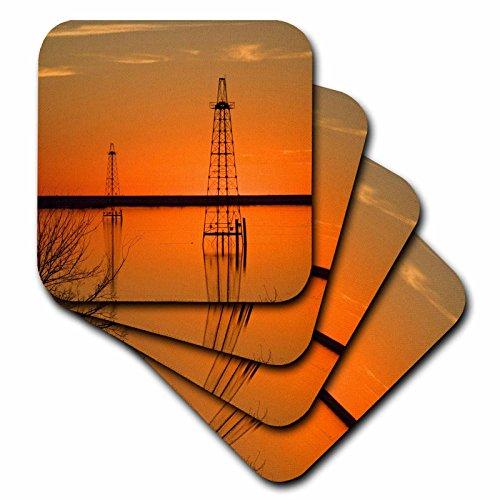 3drose-oil-well-derricks-industry-lake-arrowhead-texas-us44-ldi0004-larry-ditto-ceramic-tile-coaster