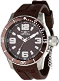 Invicta Men's 1677 Specialty Brown Textured Dial Brown Polyurethane Watch, Watch Central