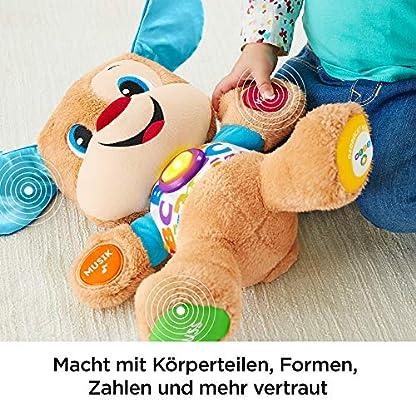 Fisher-Price FPM50 - Lernspaß Hündchen Baby Spielzeug und Plüschtier, Lernspielzeug mit Liedern und Sätzen, mitwachsende Spielstufen, Spielzeug ab 6 Monaten, deutschsprachig 5