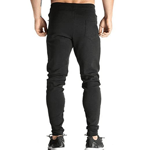 VPASS Pantalones para Hombre,Color Sólido Pantalones Moda Pop ...