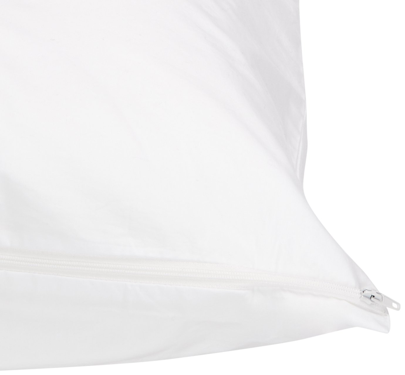 Fits Standard Pillows AB-ALE-PC-WHT-ST Basics Pillow-Protecting Cover Dust Mite Resistant Hypoallergenic