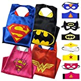 Superhero Capes for kids with Masks and Wristbands - 2 Reversible or Doubles sided superhero costume for Boys & girls make your kids Believe Dress-Up Builds Self-Confidence & Teamwork