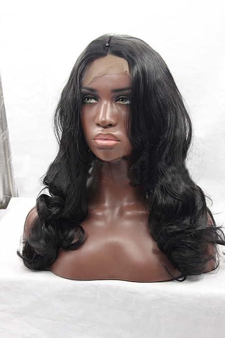 MZP Peluca química africana del pelo largo de la peluca negra de la manera peluca ,