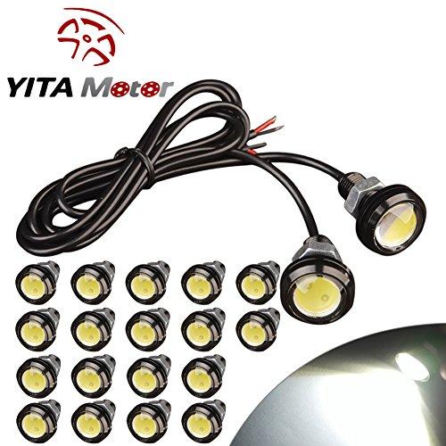 YITAMOTOR 20x Eagle Eye 23mm Motor Car 9W LED Daytime Running DRL Tail Backup White Bulbs