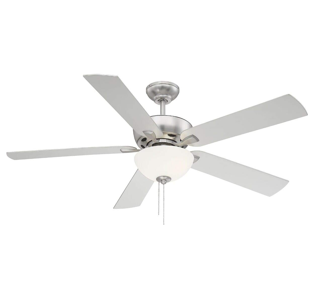 Trade Winds Lighting TW2007BN Berkeley Lake 52 Contractor Grade Ceiling Fan with LED Light Kit in Brushed Nickel